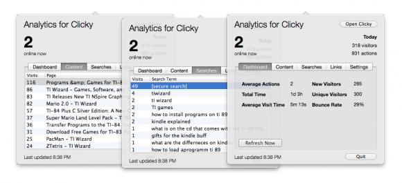 mac clicky stats app